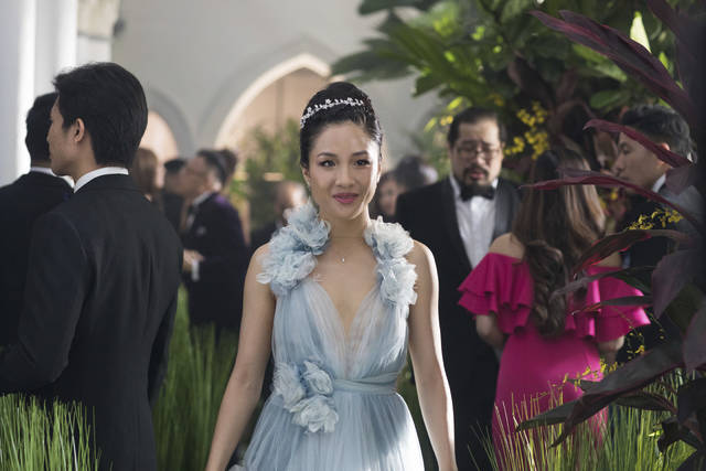 "This image released by Warner Bros. Entertainment shows Constance Wu in a scene from the film ""Crazy Rich Asians."""