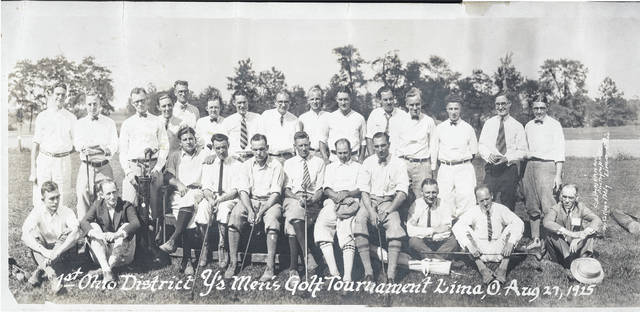 A photo from the first Ohio District Y's Men's Golf Tournament in Lima. It was held Aug. 27, 1925. The photographer was C. Zimmerman, who had offices in Lima.