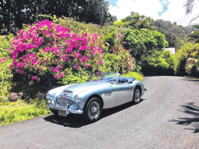 Jeff Hossellman, of Honolulu, Hawaii, and originally from Lima, drives his 1963 Austin Healey 3000 on a daily basis.