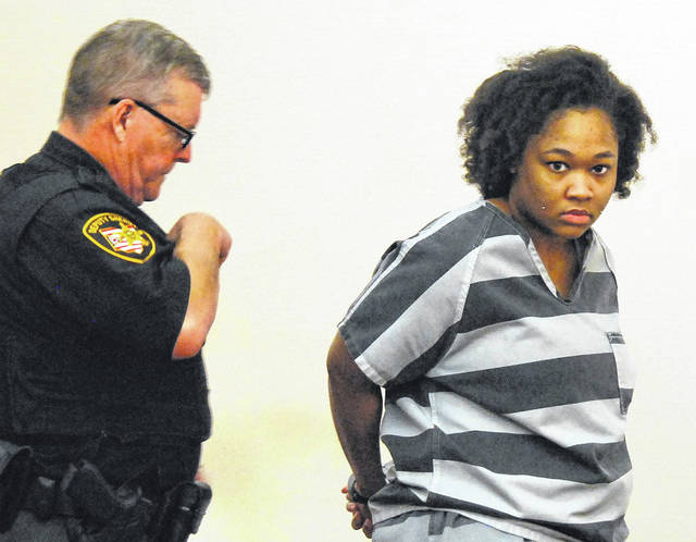 Autumn Spears, 19, of Lima, charged with murder in the Sept. 25, 2017 stabbing death of Stephan Kimble-Childress of Toledo, appeared briefly Wednesday morning in Allen County Common Pleas Court.