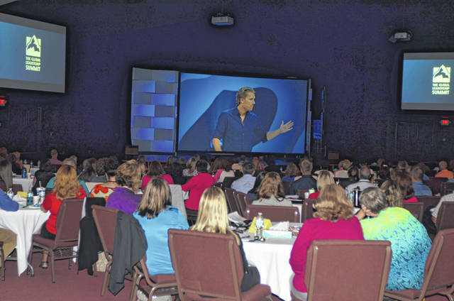 Over 240 people attended the two-day 2018 Global Leadership Summit at Lima Community Church. One of the first speakers on Friday morning was Rasmus Ankersen, who spoke about the success of a business.