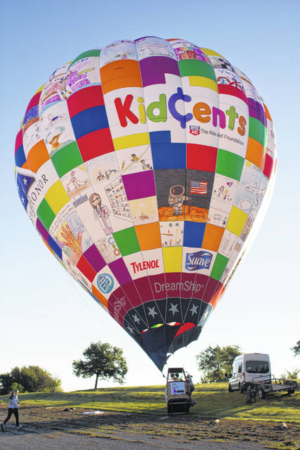 A tethered hot air balloon will be at the fair this year, with rides for $20.