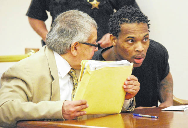 Derrick Martre, 27, of Toledo was sentenced Tuesday to 12 years in prison for fondling a young girl in Lima earlier this year. Martre caused a disturbance at his sentencing hearing last week, forcing the hearing to be postponed until Tuesday.