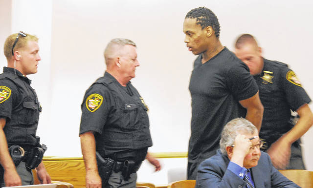 Extra security was brought into the Allen County Common Pleas courtroom of Judge David Cheney Tuesday when Derrick Martre became disruptive during his sentencing hearing. Cheney eventually had the defendant removed from the courtroom and rescheduled the sentencing hearing for next week.