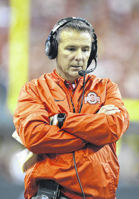 Ohio State coach Urban Meyer stands along the sideline during the first half of the team's Big Ten championship NCAA college football game against Wisconsin in Indianapolis. The investigation of how Meyer handled domestic violence accusations against an assistant has drawn attention to his contractual obligation to report violations of Ohio State's sexual misconduct policy. It's a type of specificity becoming increasingly common in college athletic contracts, especially for highly paid coaches who are standard-bearers for their universities. Sports law experts say such provisions clarify expectations for those employees and can make it easier for schools to fire them without compensation if they fall short.