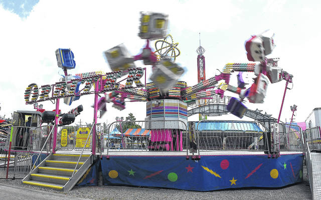 The Orbiter ride at the Allen County Fair entertains fairgoers.