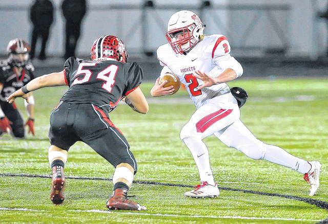 Pandora-Gilboa's Peyton Traxler was the Rockets' leading rusher last year and returns for his senior season.