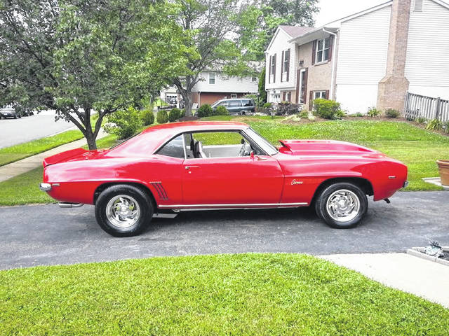 "Lisa Taylor, formerly of Van Wert, has nicknamed her 1969 Chevy Camaro ""Miss Behavin."""