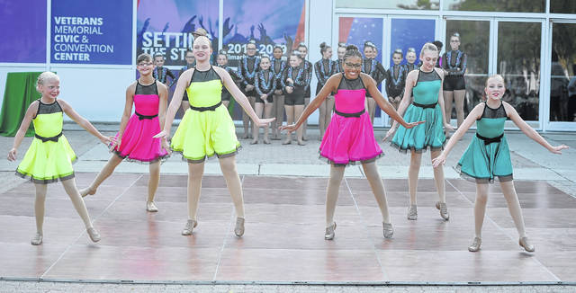 Dancers from Lyn's Academy of Dance perform during Toast to the City on Thursday.