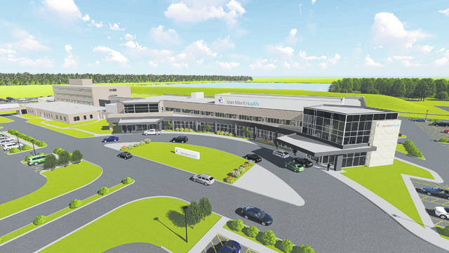 A rendering of the expansion project at Van Wert Health.