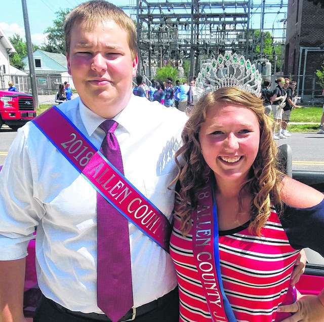 Allen County Fair King Stephen Parthemore and Queen Mallory Austin are overseeing this year's fair.