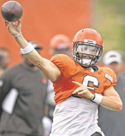 Rookie quarterback Baker Mayfield is No. 2 on Cleveland's depth chart behind Tyrod Taylor.