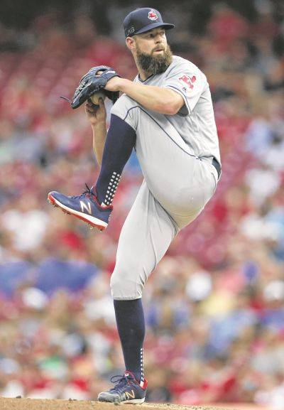 Cleveland's Corey Kluber (15-6) allowed one run and five hits and struck out seven in seven innings Tuesday night against the Reds in Cincinnati.