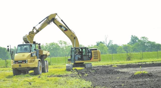 Work began on the location for a new water treatment plant in St. Marys July 27 when equipment was brought in and the drive was made, said Jeff Thompson, superintendent of water and waste water departments. The new plant will cost $20 million and take approximately two years to build.