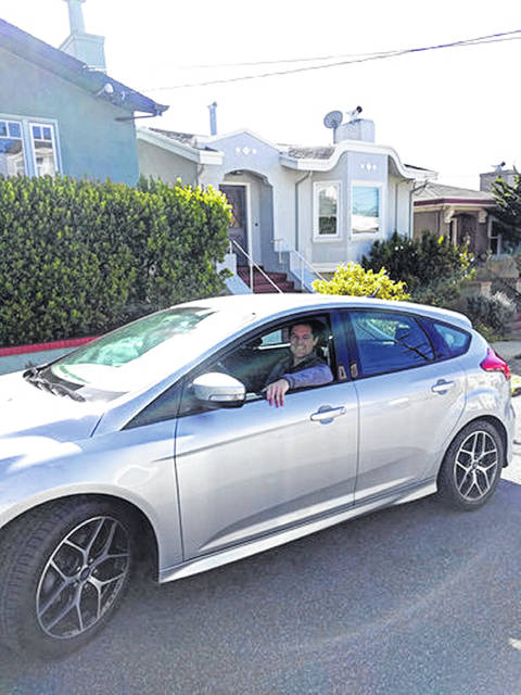 This 2017 photo shows Canvas' first subscriber, James O'Connor, sitting in his car from Canvas. If you already subscribe to digital services like Netflix to binge on TV shows and Spotify to groove to an endless mix of music, the auto industry might have a deal for you: Subscribe to your next car as well. Canvas offers a variety of used, once-leased Ford and Lincoln models as subscriptions that cost anywhere from $379 per month (for a Ford Fiesta subcompact) to $1,125 per month (for a Lincoln Navigator luxury SUV).
