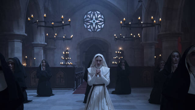 """This image released by Warner Bros. Pictures shows Sandra Teles in a scene from """"The Nun."""""""