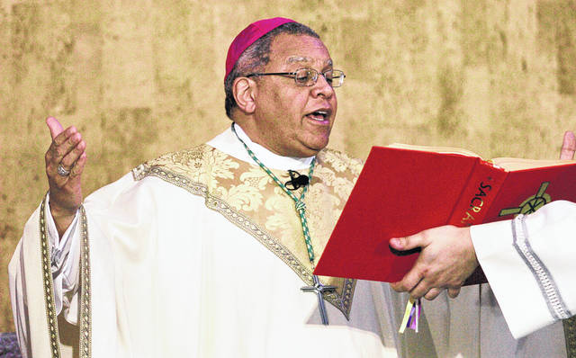 Bishop George Murry celebrates mass at Saint Columba Cathedral in Youngstown on March 28, 2007. The Roman Catholic diocese was the first in Ohio to announce that it would release a list of priests who have been removed from parishes because of sexual abuse and misconduct allegations. Now The Associated Press has learned that a second Ohio diocese, Steubenville, plans to release a list.