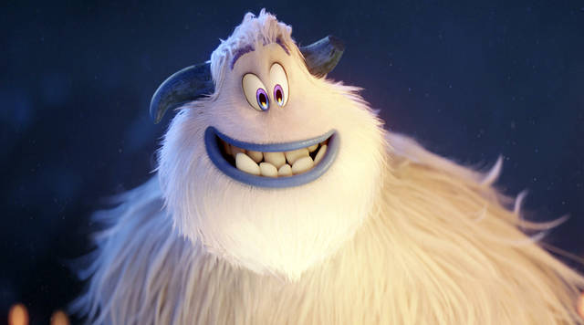 "This image released by Warner Bros. Pictures shows the character Migo from the animated film ""Smallfoot."" Colombian singer Sebastian Yatra voices the character Migo for the Spanish edition of the film. Actor Channing Tatum voices the English edition. (Warner Bros. Pictures via AP)"