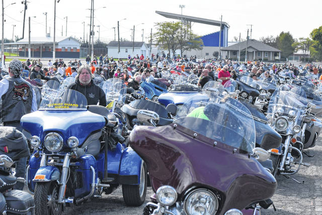 More than 500 bikers participated in this year's ABATE Toy Run.