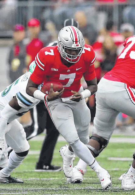 Buckeye signal caller Dwayne Haskins has shined in his first four games. The sophomore quarterback has completed 75 percent of his passes for 1,194 yards and 16 touchdowns with only one interception.