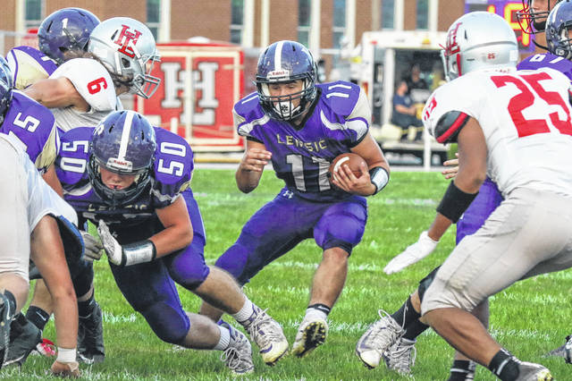 Leipsic's Gavin Lomeli is one of three running backs that has been productive for the Vikings this season.