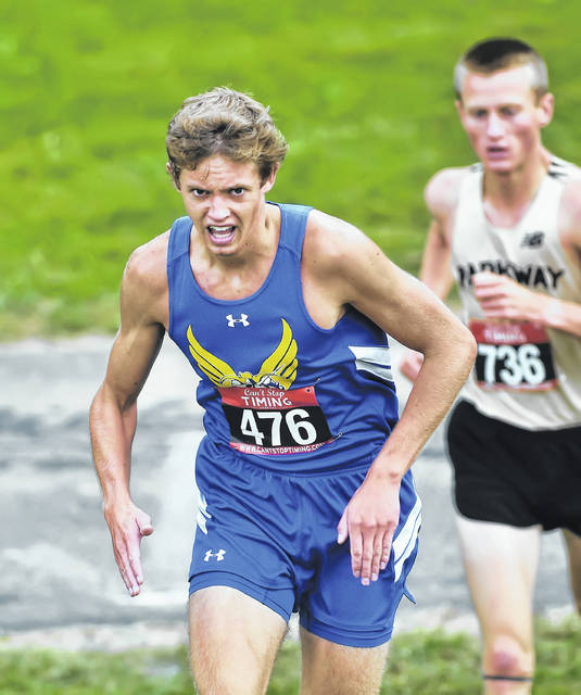 Lincolnview's Alek Bowersock competes in Saturday's Van Wert Health Invitational where he finished second for the team champion Lancers. See more invitational photos at LimaScores.com.