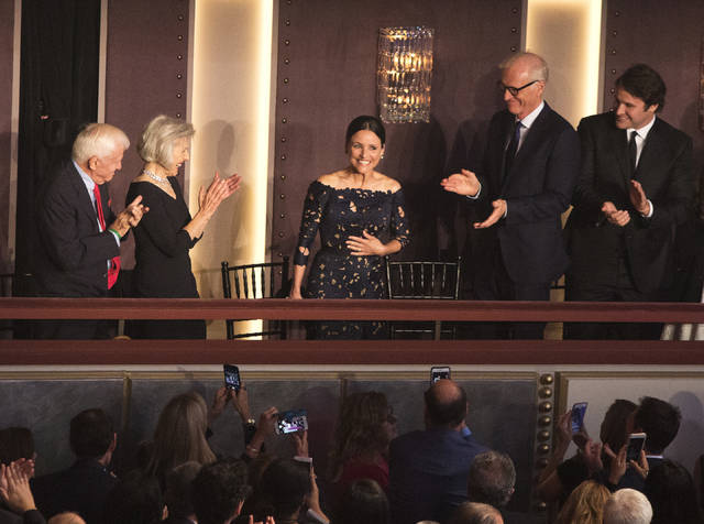 Julia Louis-Dreyfus is honored with the Mark Twain Prize for American Humor at the Kennedy Center for the Performing Arts on Sunday in Washington, D.C.