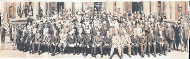 Spanish war veterans became a prominent fraternal organization in the first decade of the 20th century. Veterans groups from cities in Northwest Ohio banded together to form the Northwest Ohio Boosters Association, pictured above in 1929.