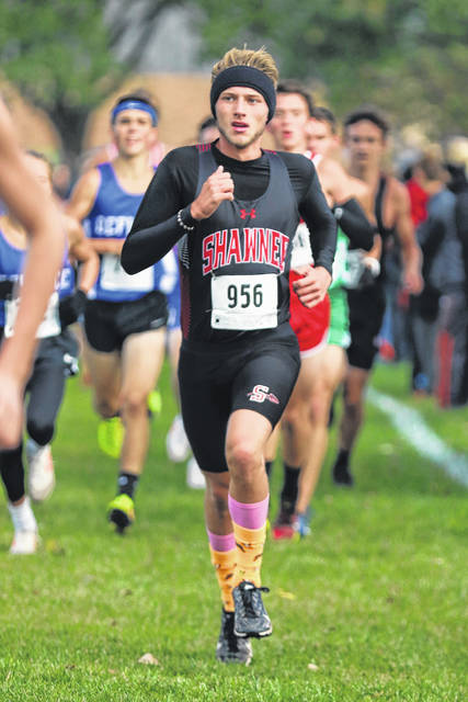 Shawnee's Gabe Williams finished eighth Saturday in the Western Buckeye League Championships boys race at Wright State - Lake Campus.