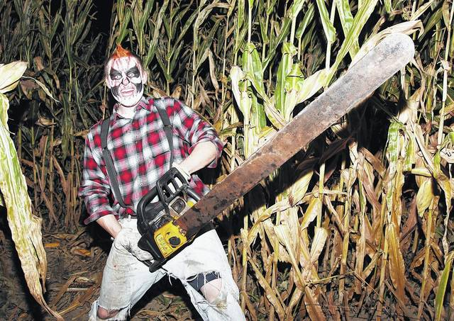 Cornfields in the Lima area turn into haunts this time of year, where scary folks wield weapons.