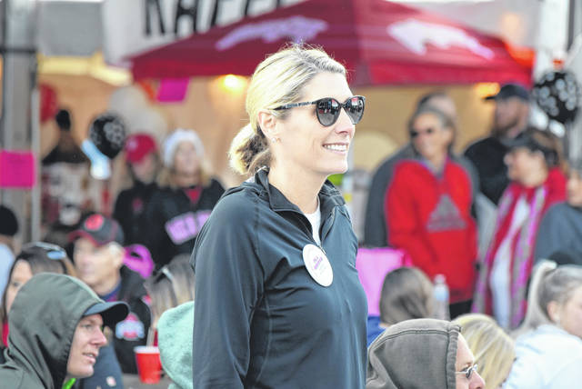 Katie Vanderhorst, a cancer survivor, helped sponsor this year's Tailgate for Cancer in St. Marys.