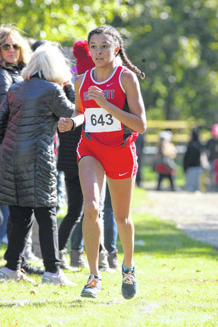 Van Wert's Caylee Phillips won Saturday's Division II race at Saturday's Ottawa district.