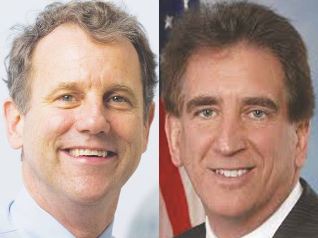 U.S Sen. Sherrod Brown, left, and U.S. Rep. Jim Renacci, right.