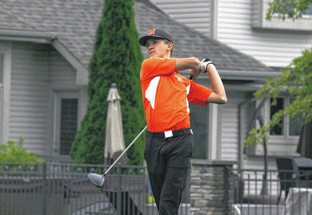 Minster's Grant Koenig carded an 83 in helping the Wildcats post the low team score during Thursday's Division III district at Stone Ridge Golf Club in Bowling Green.