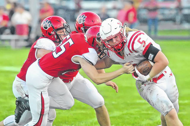 Wapakoneta's Evan Kaeck has been the Redskins' workhorse this season. The senior running back has rushed for more than 1,000 yards in the first nine games.