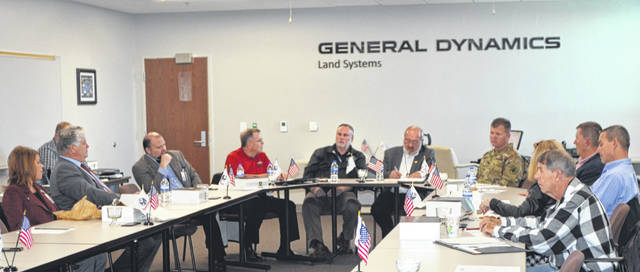 Task Force LIMA discusses the outcome of the recent Ohio Defense Forum in Columbus during its meeting Monday at the Joint Systems Manufacturing Center.
