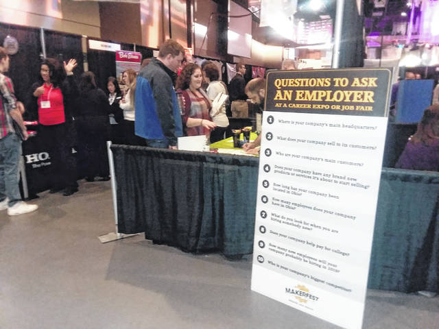 Lima's Civic Center was packed with job seekers at this year's MakerFest Job Fair.