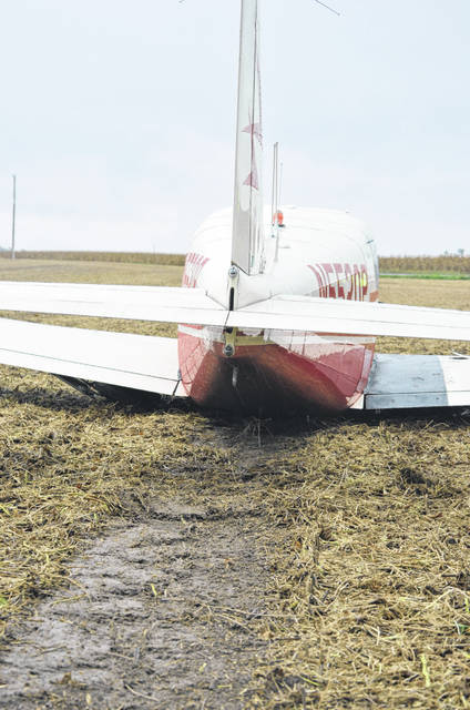 A Michigan man was forced to make an emergency landing in a Putnam County cornfield Friday. No one was hurt.