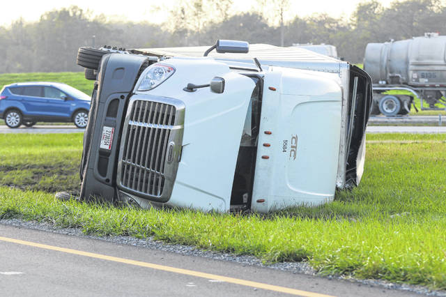 Ohio State Highway Patrol and Wapakoneta responders were called to exit 113 on Interstate 75 at 5:40 p.m. Sunday. When responders arrived they found a semi had overturned on the off-ramp and the driver was found unconscious. The driver was transported to Lima Memorial Health System.