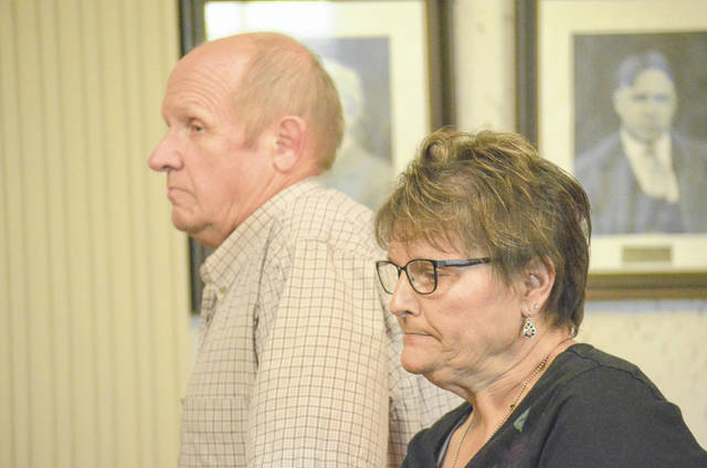 William and Mary Kay Weis were at the Putnam County Court of Common Pleas Tuesday for the beginning of the Road 5 trial. After jury selection was completed opening arguments for their case were heard by the jury.