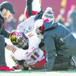 Torn ACL sidelines Maryland quarterback Hill for remainder of season
