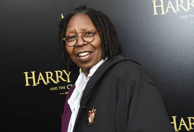 "FILE - In this April 22, 2018 file photo, actress Whoopi Goldberg attends the ""Harry Potter and the Cursed Child"" Broadway opening at the Lyric Theatre in New York. Goldberg is among new nominees to the New Jersey Hall of Fame. The organization announced its list of 50 nominees for the 11th class on Friday, Nov. 16, 2018. Inductees will be announced in January 2019, and the indication ceremony will be held in May.  (Photo by Evan Agostini/Invision/AP, File)"