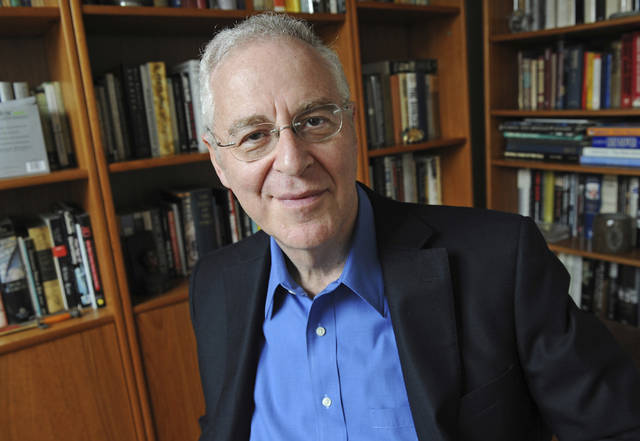 FILE - This April 18, 2011, file photo shows author Ron Chernow at his home in the Brooklyn borough of New York. The White House Correspondents' Association has announced that author Ron Chernow will speak at its annual dinner in April.