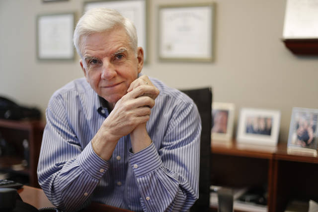 "Attorney Mark Patterson poses in his law firm's offices Thursday, Nov. 15, 2018, in Nashville, Tenn. The recent turbulence in the U.S. stock markets is spooking older workers and retirees, a group that was hit particularly hard during the most recent financial crisis. ""There's a huge fear of folks my age that they're going to run out of money and they're going to need to rely on the government for help,"" Patterson said. (AP Photo/Mark Humphrey)"