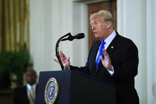 President Donald Trump speaks during a news conference in the East Room at the White House in Washington, Wednesday, Nov. 7, 2018. (AP Photo/Manuel Balce Ceneta)