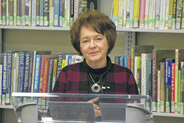 Nationally syndicated columnist Lori Borgman presented a program Happy Holi-daze at the Lima Public Library, Tuesday night. Her column appears on Fridays in The Lima News.