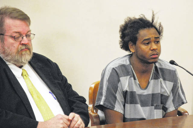 Chaz Jackson, 23, of Lima, made his initial court appearance in Lima Wednesday since his capture late last month in Alabama. Jackson, who is charged with murder in the 2016 shooting death of Wapakoneta resident Ryan VanBuskirk, had eluded authorities for nearly two years.