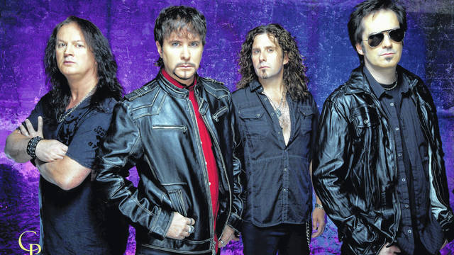 The four members of FireHouse: (from left to right) bassist Allen McKenzie, lead vocalist C.J. Snare, drummer Michael Foster and guitarist Bill Leverty.