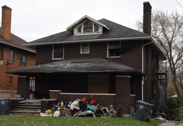 Two children were hospitalized after a house fire at 625 W. Elm St. in Lima.