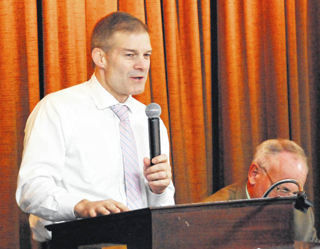 Ohio Congressman Jim Jordan, R-Urbana, was the guest speaker Friday at the monthly luncheon hosted by the Allen County Republican Party. Jordan challenged to party faithful to remain active in the final days leading up to Tuesday's general election balloting.